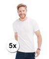 Voordelige witte heren t-shirts 5x