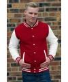 Rood wit contrast jas voor heren
