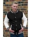 Zwart wit contrast jas voor heren